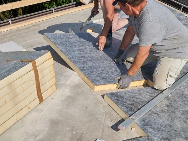 Isolation de la toiture plate